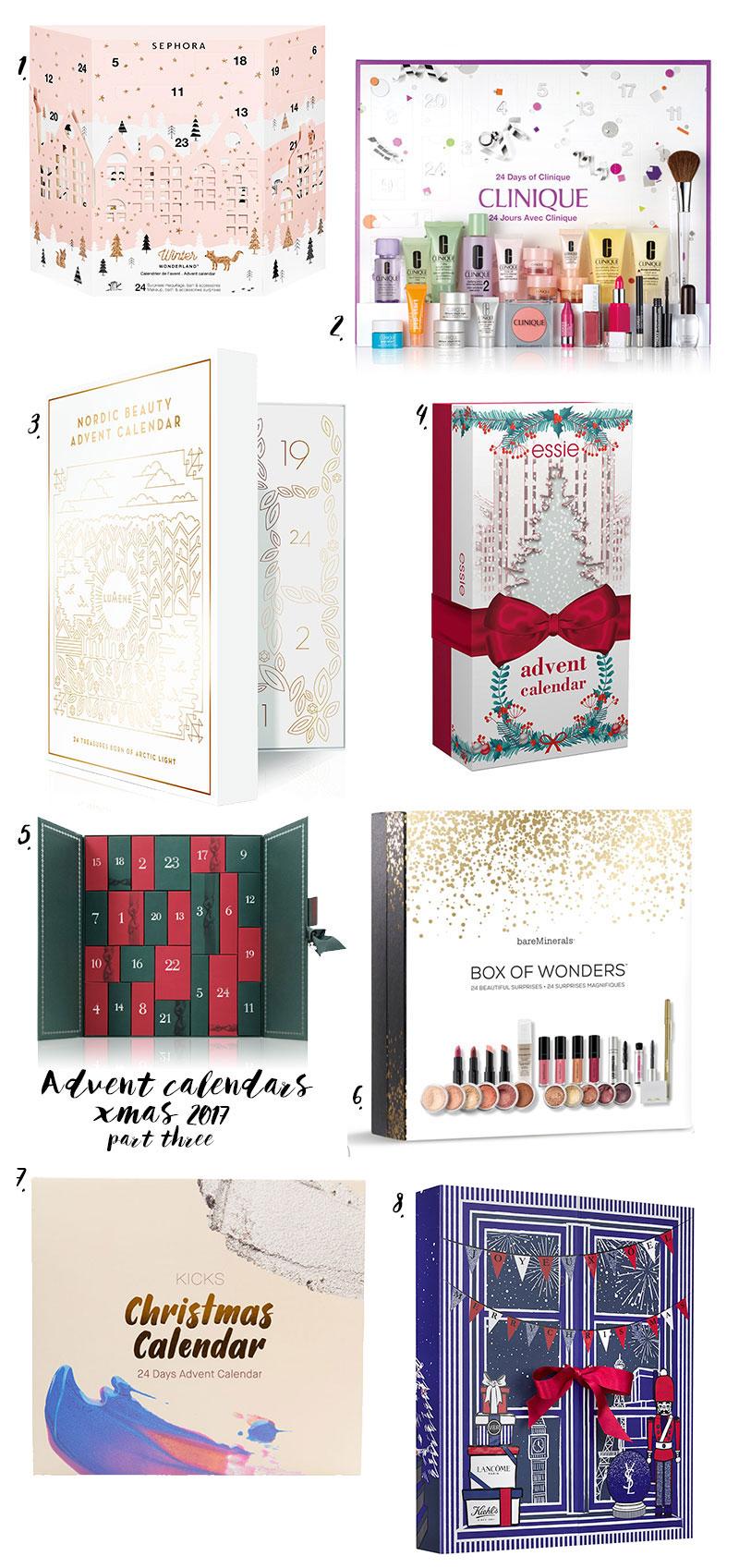 julkalender advent calendars skönhetskalendrar